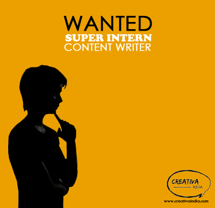 Summer Internships: CONTENT WRITER   Creativa India